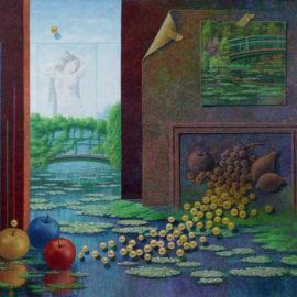 PAKZAD Hafiz LA VIE ET LA NATURE Huile sur toile 100*100cm